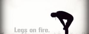 legs on fire